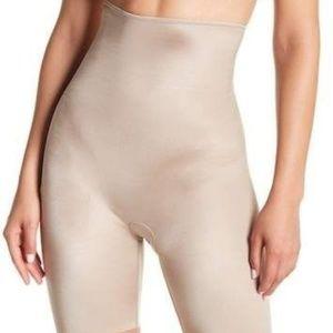 SPANX high waist mid-thigh shaper; Neutral Beige M